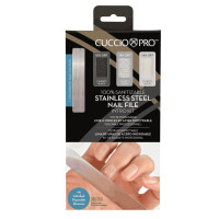 Cuccio Stainless Nail File Intro Kit metallinen kynsiviila