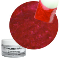 Universal Nails Punainen UV metalligeeli 10 g