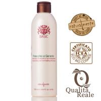 Naturalmente Fennel & Geranium kosteuttava shampoo 250 mL
