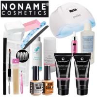 Noname Cosmetics Fengshangmei Powder Polygel Aloituspaketti Master Promed UVL-54 UV&LED-uunilla