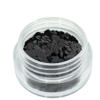 Noname Cosmetics Heksagoni paljetit musta