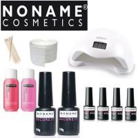 Noname Cosmetics Geelilakka-aloituspaketti SUN 5 UV & LED-uunilla