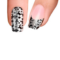 Trendy Nail Wraps Back in Black Kynsikalvo koko kynsi