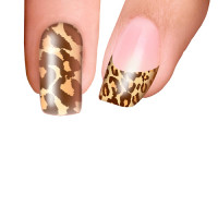 Trendy Nail Wraps Cheetalicious Brown Kynsikalvo koko kynsi