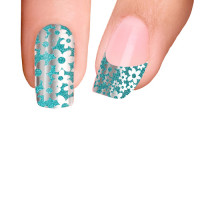 Trendy Nail Wraps Into The Blue Kynsikalvo koko kynsi