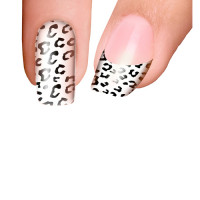 Trendy Nail Wraps Jungle Fever White Kynsikalvo kärkikalvo