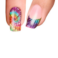 Trendy Nail Wraps Psychedelic Rainbow Kynsikalvo koko kynsi