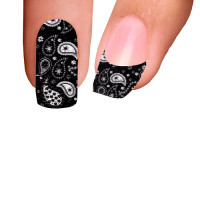 Trendy Nail Wraps Paisley Power Black Kynsikalvo koko kynsi