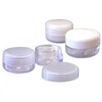 Noname Cosmetics Kirkas Tyhjä muovirasia valkoisella kannella 10 mL