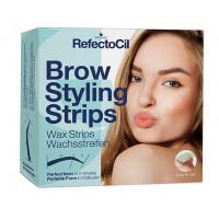 RefectoCil Brow Styling Strips Kylmävahaliuskat kulmakarvoille