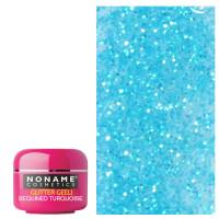 Noname Cosmetics Sequined Turquoise Glitter UV geeli 5 g