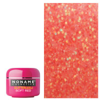 Noname Cosmetics Soft Red Glitter UV geeli 5 g