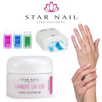 Star Nail Starlite 1-Vaihe UV-Geeli Aloituspaketti Promed UVL-36 UV-uunilla