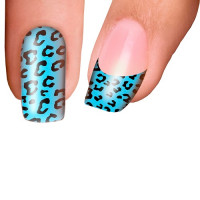 Trendy Nail Wraps Jungle Fever Aqua Kynsikalvo koko kynsi