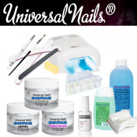 Universal Nails Monophase UV/LED-Geeli Aloituspaketti Promed UVL-36 UV-uunilla