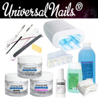 Universal Nails Monophase UV/LED-Geeli Aloituspaketti Promed UVL-36 S UV-uunilla