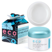 Eco Nail Systems Valkoinen Eco Soak Off geelilakka 28 g
