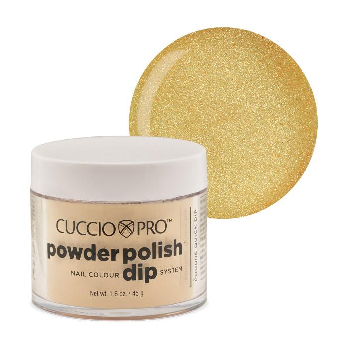 9c22b90cf3d Cuccio Metallic Lemon Gold Powder Polish 45 g - Powder Polish Dip ...
