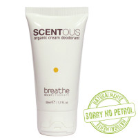 Naturalmente Breathe Scentous Organic Cream deodorant 50 mL