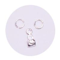 Sina Nail Dangle silver lock