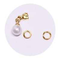 Sina Nail Dangle golden pearl