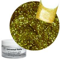 Universal Nails Kulta Gold Glitter UV gel 10 g