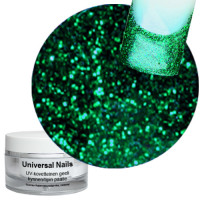 Universal Nails Smaragdi Smaragd Glitter UV gel 10 g