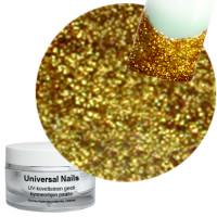 Universal Nails Intensiivinen Kulta Super Gold Glitter UV gel 10 g