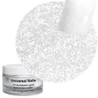 Universal Nails Valkoinen Tähti White Star Glitter UV/LED gel 10 g