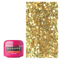 Noname Cosmetics Gold Amber Glitter UV Gel 5 g