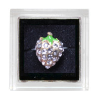 Sina Toe Ring clear strawberry