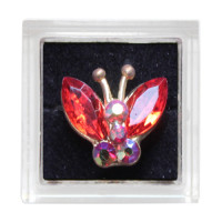 Sina Toe Ring red butterfly