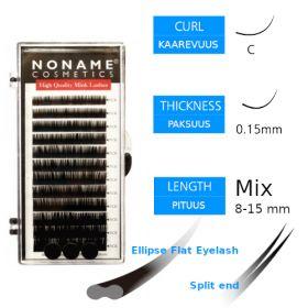 Noname Cosmetics Ellipse Flat Pidennysripset C 0.15 / 8-15mm