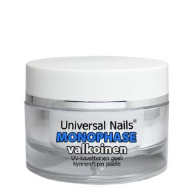 Universal Nails Valkoinen Monophase UV/LED geeli 10 g