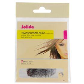 Solida Transparent Tumma Kokopään hiusverkko 2 kpl