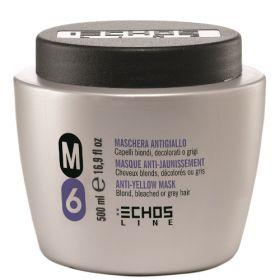 Echosline M6 Anti-Yellow hiusnaamio 500 mL