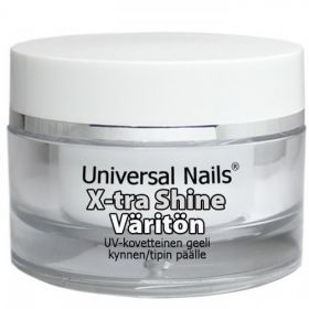 Universal Nails Kirkas X-tra Shine UV/LED päällysgeeli 30 g