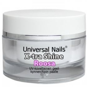 Universal Nails Roosa X-tra Shine UV/LED päällysgeeli 30 g