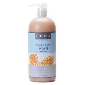 Cuccio Naturalé Milk & Honey Hands & Body Wash kuoriva käsi- ja vartalosaippua 960 mL
