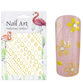 Universal Nails NailArt Sticker 3D Gold Drops koristetarrat
