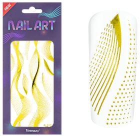 Universal Nails XL NailArt Sticker Gold G03 koristetarrat