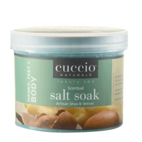 Cuccio Naturalé Artisan Shea & Vetiver Scentual Salt Soak jalkakylpysuola 822 g
