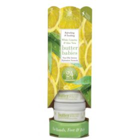Cuccio Naturalé Baby Butter Blend Tower White Limetta & Aloe Vera kosteusvoide 6 x 42 g