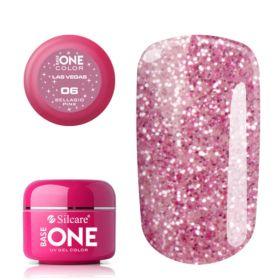 Silcare #06 Bellagio Pink Base One Las Vegas UV glittergeeli 5 g