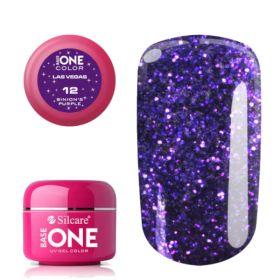 Silcare #12 Binion's Purple Base One Las Vegas UV glittergeeli 5 g