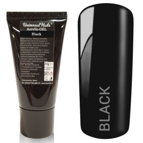 Universal Nails Acrylic-Gel UV/LED Black polygeeli 30 g