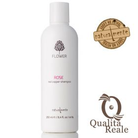 Naturalmente Rose Red Copper Flower värishampoo 250 mL