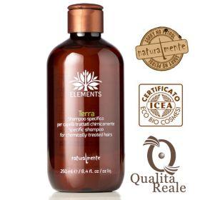 Naturalmente Elements Terra shampoo hauraille hiuksille 250 mL