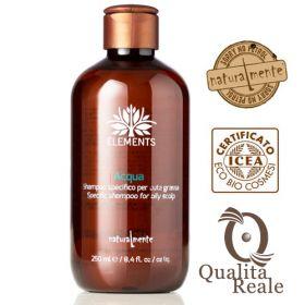 Naturalmente Elements Acqua shampoo rasvoittuvalle hiuspohjalle 250 mL