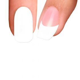 Trendy Nail Wraps White Wedding Kynsikalvo koko kynsi